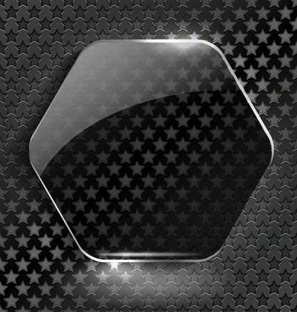 high volume: Abstract black background with glass element-frame for creative design