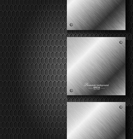 metal noir: Abstrait arri�re-plan de la technologie en m�tal noir pour des t�ches cr�atives