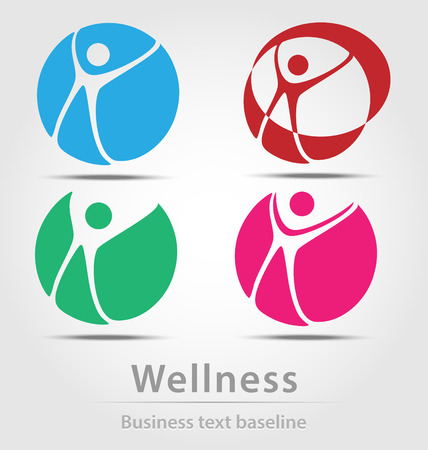 Wellness busines icon set for creative design
