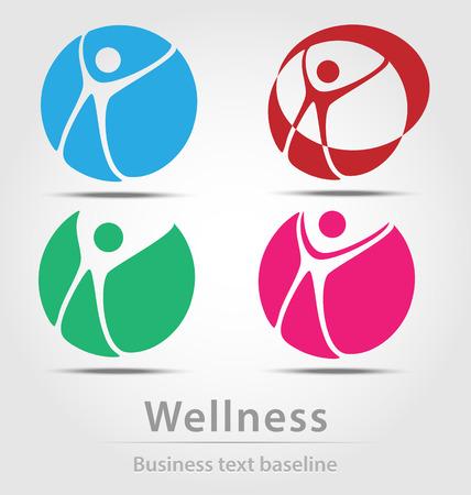 Wellness busines icon set for creative design
