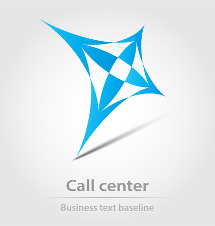 Call center business icon for design needs Vector