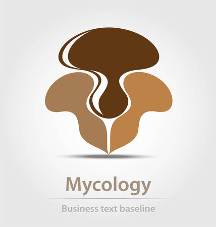 mycology: Mycology business icon for creative dewsign