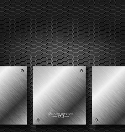 metal noir: Abstrait arri�re-plan de la technologie en m�tal noir pour la conception cr�ative