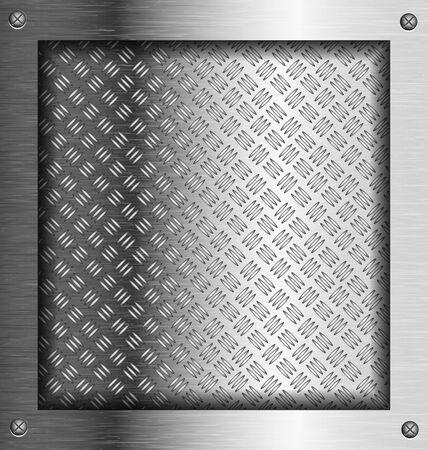 Embossed steel metal frame for creative tasks