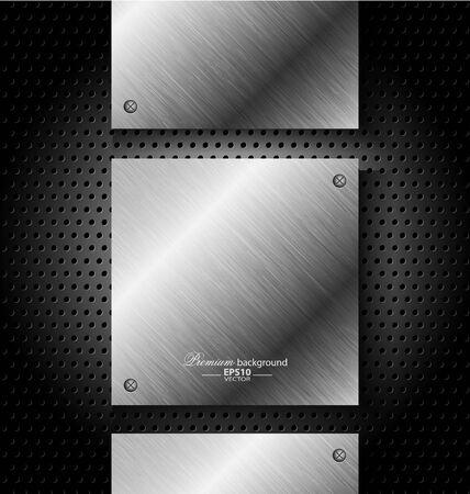 metal noir: R�sum� de fond de technologie en m�tal noir pour la conception cr�ative