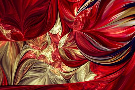 Computer gegenereerde fractal kunstwerk voor creatief ontwerp en entertainment