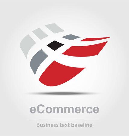 busines: Ecommerce busines icon for creative design