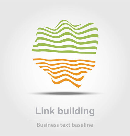 link building: Link building business icon for creative design