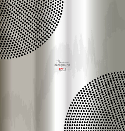 silver metal: Silver metal template  background for creative design work