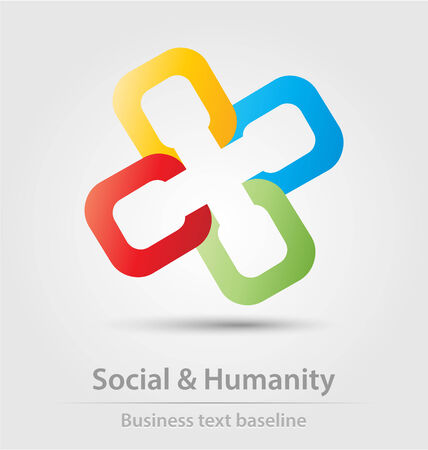humanity: Social and humanity business icon for creative design Illustration