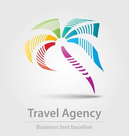 Travel agency business icon for creative design
