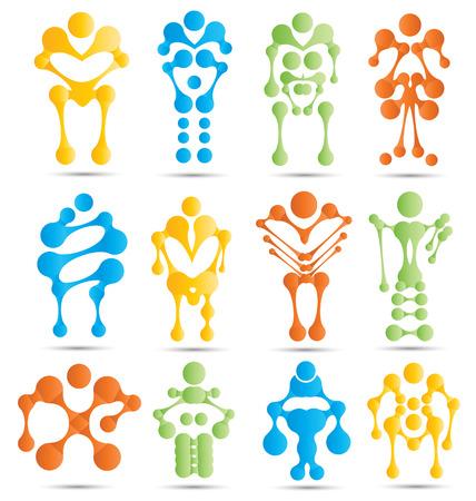 Stylized robots and robotics icon set for creative design needs photo
