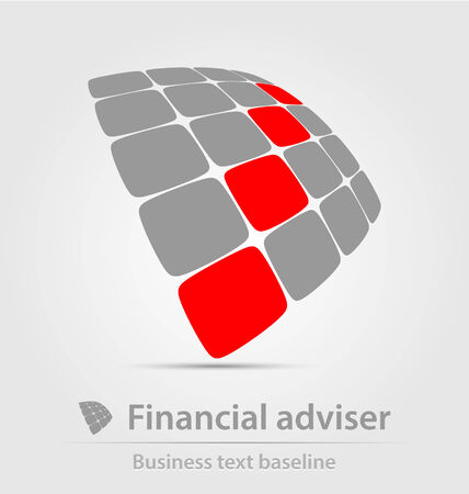 adviser: Financial adviser business icon for creative design tasks