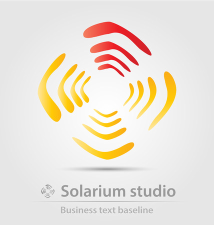 solarium: Solarium studio business icon for creative design