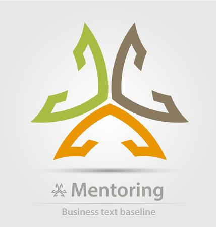Mentoring business icon for creative design Vector