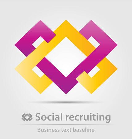 recruiting: Social recruiting business icon for creative design Illustration
