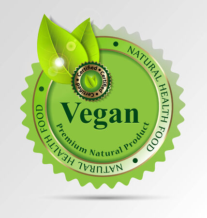 Creative label for vegan-related foodsdrinks for design taks Vector