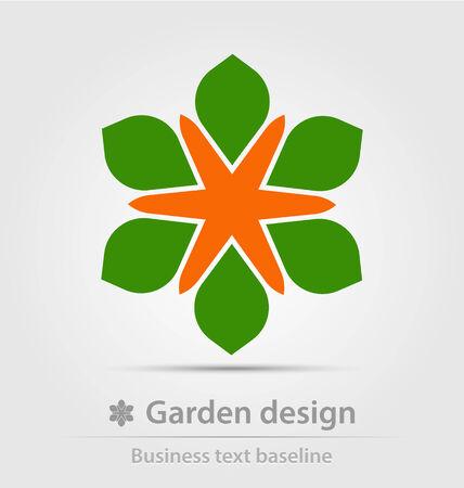 tuinontwerp: Tuinontwerp bedrijf icoon voor creatief ontwerp werk Stock Illustratie