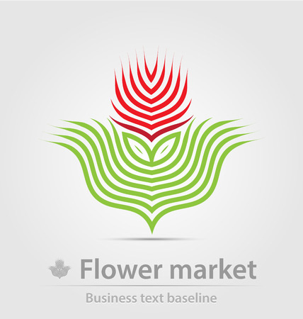 Flower market business icon for creative design Vector