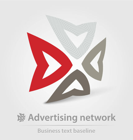 advertising network: Advertising network business icon for creative design Illustration