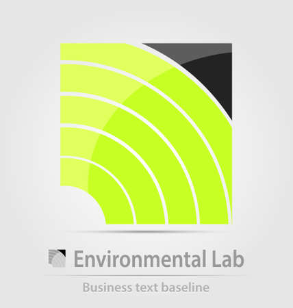 corporate waste: Environmental laboratory business icon