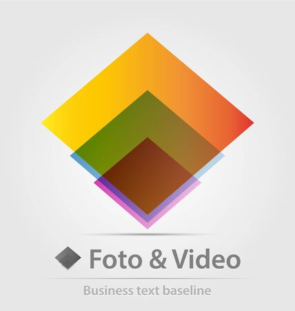 foto: Foto and video business icon for creative design work Stock Photo