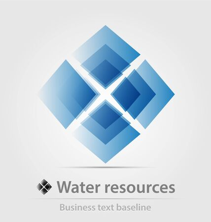 Water resource business icon for creative design work