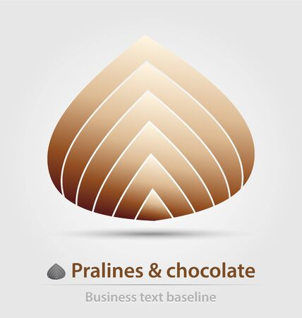 Pralines and chocolate business icon for creative design work