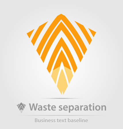 corporate waste: Waste separation business iconfor creative design