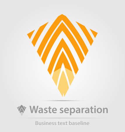 waste separation: Waste separation business iconfor creative design