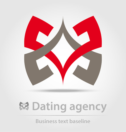 interactions: Dating agency business icon for creative design work