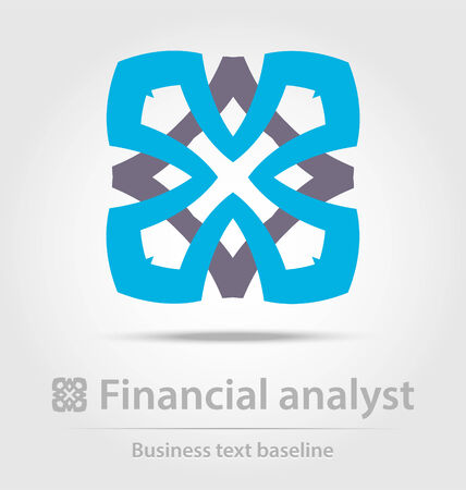 financial advisors: Financial analyst business icon for creative design tasks