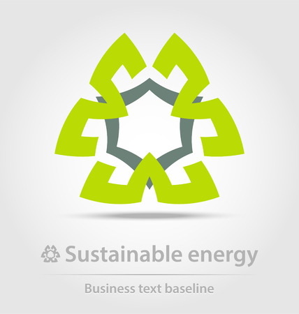 energetics: Sustainable energy business icon for creative design tasks