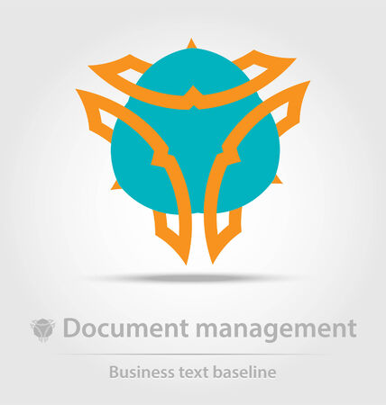 dissemination: Document management business icon for creative design
