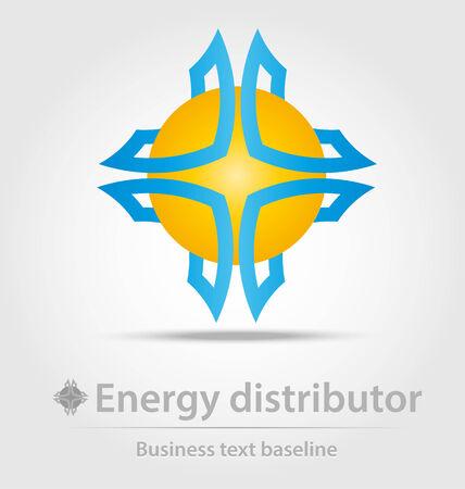 distributor: Energy distributor business icon for creative design work