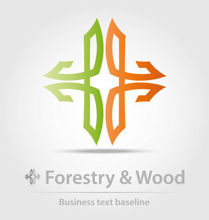 forestry: Forestry and wood business icon for creative design work