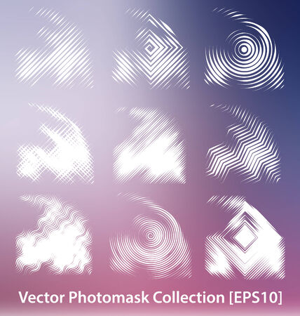 layer masks: Vector photomask collection for creative design work