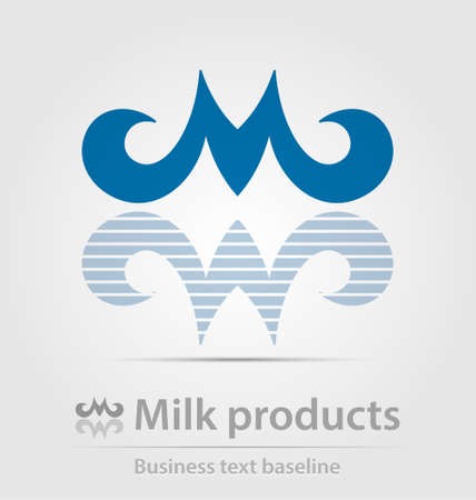 milk products: Milk products business icon for creative design Illustration
