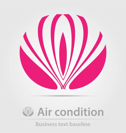 air condition: Air condition business icon for creative design Illustration
