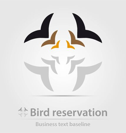 reservation: Bird reservation business icon for creative design
