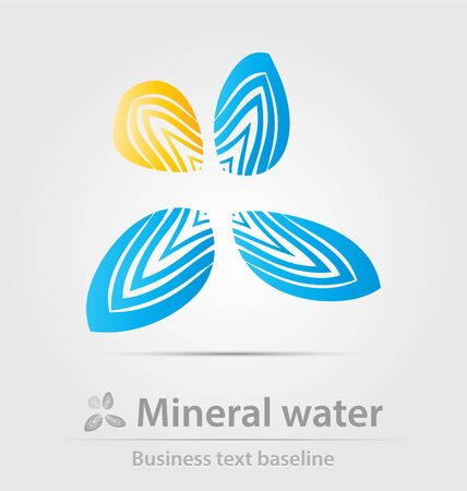 mineral water: Mineral water business icon for creative design