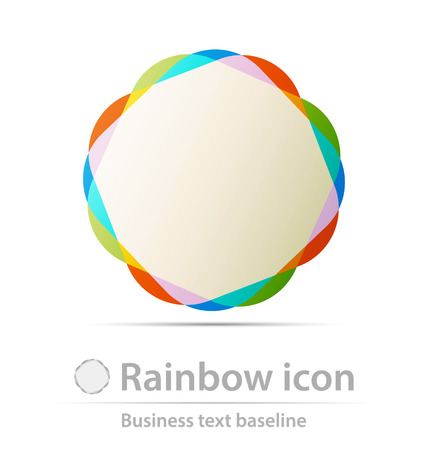 corporations: Rainbows business icon for creative design