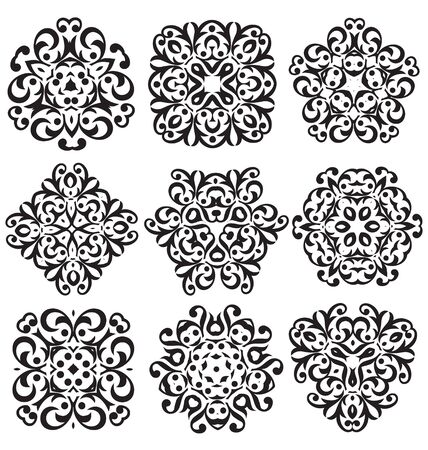decorative elements: Calligraphic decorative elements for creative design work