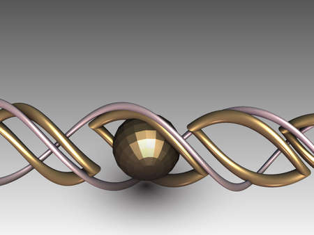 abstract symbolism: Abstract background with detailed 3D render for creative design Stock Photo