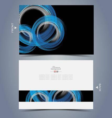 Modèle de conception de carte de visite élégant pour le travail de conception créative