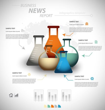 arguing: Business infographic template for interactive data communication