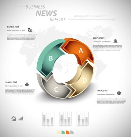cognition: Business infographic template for interactive data communication
