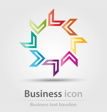 renewing: Originally created business icon for creative design tasks Illustration