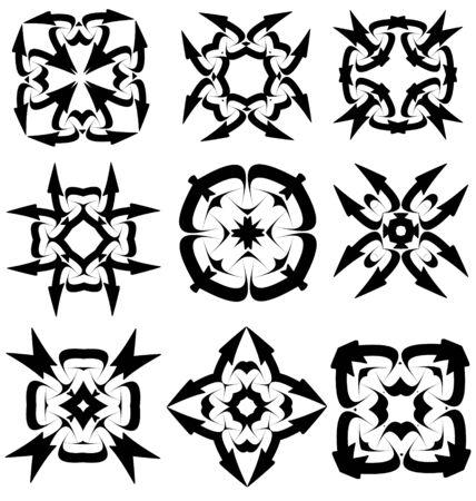 decorative elements: Calligraphic decorative elements for creative design tasks Illustration