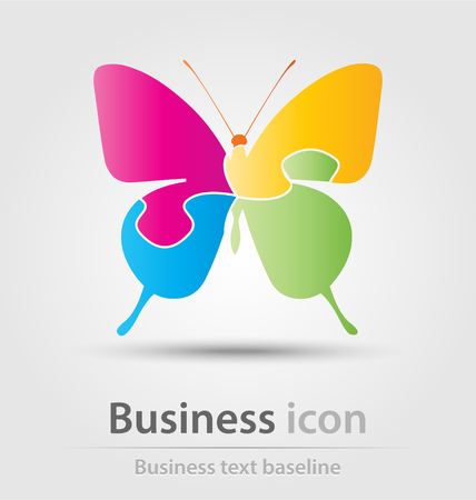 Originally created business icon for creative design tasks Stock Photo